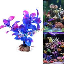 Violet décoration Aquarium Fish Tank artificielle mauvaises herbes aquatiques