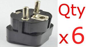 6pk USA US EU UK To Germany France Europe Plug Adapter Travel Converter