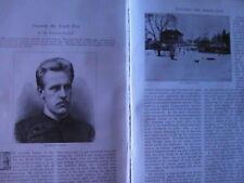 Dr Fridtjof Nansen Fram North Pole Explorer Exploration Rare Article 1893