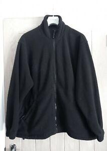 Uneek Mans Black Zip Up Fleece Jacket Size L