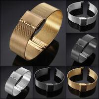 Orologio Cinturino Acciaio Inox Bracciale Watch Mesh Bracelet Band Strap 18-24mm