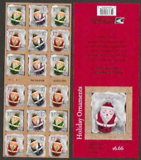 3894b 3891-3894 Ornaments ATM Booklet Unfolded PO Fresh Mint NH