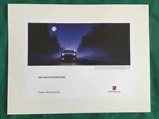 PORSCHE OFFICIAL CAYENNE S/TURBO BLACK FOREST SHOWROOM ADVERT POSTER 2003 USA