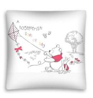 NEW DISNEY Baby WINNIE THE POOH Piglet Eeyore cushion cover 40x40cm white red