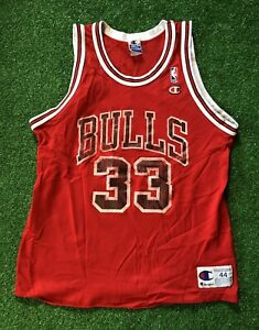 Vintage Champion 90s NBA Chicago Bulls Jersey Pippen Men's 44 Used