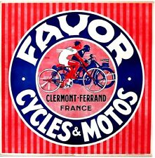 Original vintage poster FAVOR FRENCH BICYCLES & MOTOR CYCLES c.1930