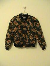 Retro Diversity Quilted Silk Paisley Print Jockey Style Jacket Size 10 Petite