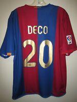 DECO #20 Barcelona 2006-07 home shirt Nike soccer maillot trikot camisa vintage