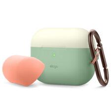 AirPods Pro Case  -  elago® Duo Hang Case [Classic White, Peach + Pastel Green]