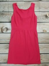 J McLaughlin Size 12 Pink Sleeveless Lined Rayon Blend Dress With Pockets