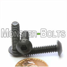 "#10-24 x 3/4"" - Qty 10 - BUTTON HEAD Socket Cap Screws - Alloy Steel Black Oxide"