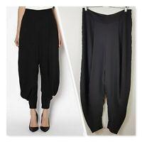 [ WITCHERY ] Womens Black Harem Pants w/zip detail | Size AU 14 or US 10
