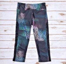 ONZIE Capri Athletic Legging Snakeskin Small Med Purple Green Cree Tuxedo Pant