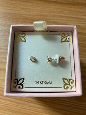 Real 14k gold with genuine diamond round earring ($470 retail @ Macys)
