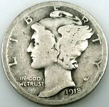 1918 D Mercury Dime! Add this coin to your collection!