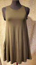 Green Khaki Dress Sleeveless Size XS