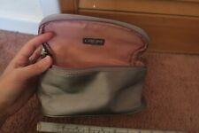 lancome grey toiletry makeup bag