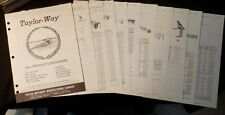 Taylor-Way Implement All-Products Brochure and 14 data sheets 1978 Illustrated