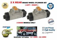 Para Suzuki Vitara 1.6 3 Puertas 1989-1994 2X Trasero Izquierdo Derecho Freno