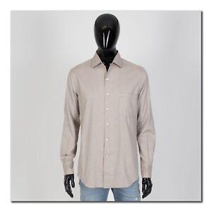 LORO PIANA 515$ Andre Super Soft Cotton Sport Shirt In Light Brown