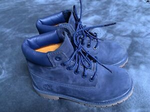 Timberland Navy Blue Suede Youth Boots Size 13