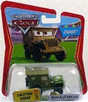 NEU & RAR: DISNEY CHASE CARS 1:55 SALUTIERENDER SARGE ARMY WILLYS JEEP