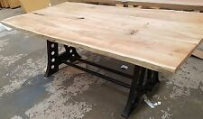 Recycled Acacia Wood Industrial Dining Table - 2M L x 1M W - Seats 8 - PRESALE