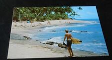 Vintage  Postcard  Surfing Rincon P.R.