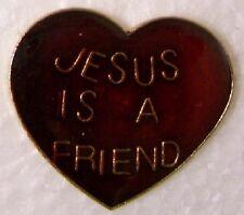 Hat Lapel Pin Push Tie Tac Religious Jesus is a Friend NEW