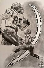 San Diego Chargers Antonio Gates Art Sketch Drawing - poster