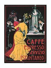 CAFFE ESPRESSO Servizio Istantaneo V. Ceccanti. Vintage AD Poster Reproduction