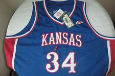 NIKE KANSAS JAYHAWKS PAUL PIERCE BLUE JERSEY #34 RETRO 3XL