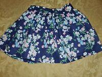 EUC Janie & Jack Girls Skirt Navy Blue Floral Sz 4
