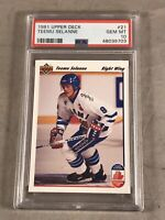 1991 UPPER DECK #21 TEEMU SELANNE PSA GEM MT 10 HOF RC ROOKIE CARD