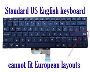 US Blue Backlit keyboard for Asus UX333F UX333FA UX333FN UX333FAC UX333FLC