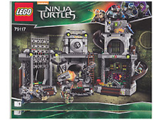 NEW INSTRUCTIONS ONLY LEGO TURTLE LAIR INVASION 79117 book manuals TMNT from set