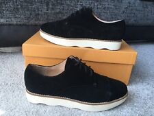 French  Connection black Leather suede shoes flats trainers Eur Size 38