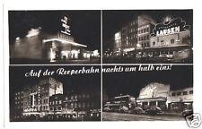 AK, Hamburg, Reeperbahn bei Nacht, vier Abb., 1956