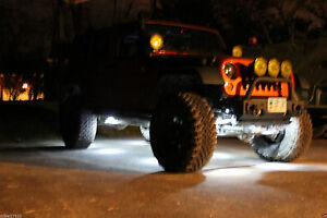10 LED Rock Lights Under Carriage Sand Rail Truck Trail Rig Lights Moab Sliver