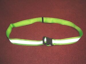 High Visibility Lime Green Safety Belt - Military Applications or Sports Use
