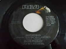 Elvis Presley Guitar Man / Faded Love 45 1981 RCA Vinyl Record