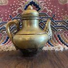 19th Century Antique Chinese Tibetan Ewer Teapot Kettle Tea Pot Artifact