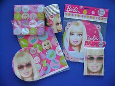 New Barbie Birthday Party Set Banner Plate Cup Invitation Napkin Table Cloth