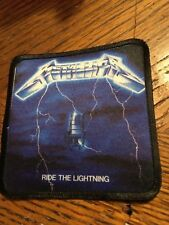 Metallica Ride the Lightning Sublimated Patch 3�x3� Album Cover Rock Metal