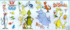 DR SEUSS Cat in Hat wall stickers Things 1 & 2 Horton 23 big decals Fox Grinch +