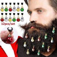 12 teile / satz Mischkugel Weihnachtsmann Bart Ornament Ball Weihnachtsschmuck