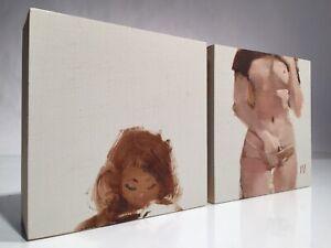 "Ashley Wood Original Nude Painting on Wood ""Sunny"" [WWR/Tomorrow Kings/Print/TK]"