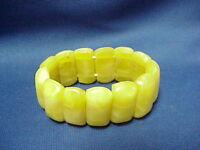 Vintage Yellow Swirl Bracelet Chunky Bangle Lucite Bakelite?