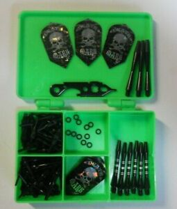 Soft Tip Darts Tune Up 6-Death Mark Flights-9 Shafts-0-Rings-50 Tips-Wrench-Case