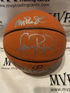 PSA/DNA Authentic Magic Johnson & Larry Bird Autograph Replica Spalding Ball